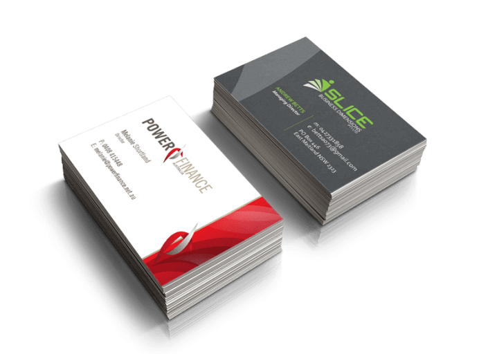 Express graphic business cards